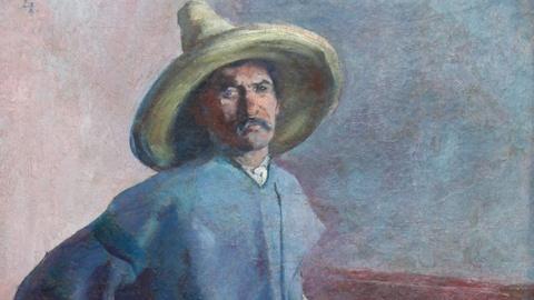 """Antiques Roadshow -- S17 Ep1: Appraisal: 1904 Diego Rivera """"El Albañil"""" Oil Paint"""