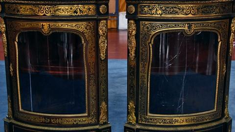 Antiques Roadshow -- S17 Ep2: Appraisal: French Brass-Inlaid Corner Cabinets, ca.