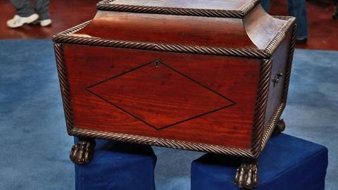 Antiques Roadshow -- S17 Ep2: Appraisal: Regency Mahogany Cellarette, ca. 1815