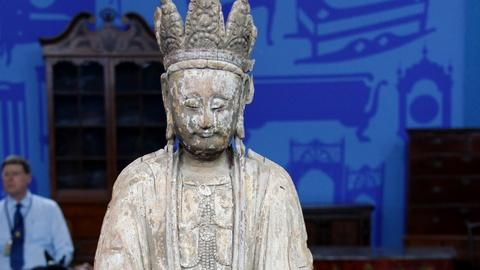 Antiques Roadshow -- S17 Ep6: Appraisal: Early Ming Chinese Wood Figure of Guanyi