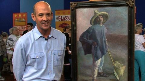 """Antiques Roadshow -- S17 Ep1: Interview:  1904 Diego Rivera """"El Albañil"""" Oil Pain"""