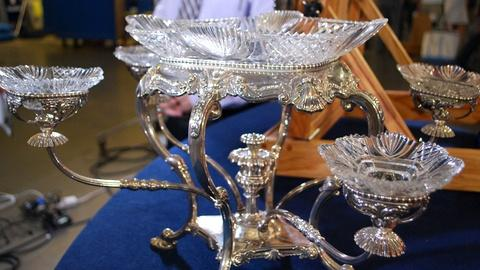 Antiques Roadshow -- S17: Web Appraisal: Silver Tray & Epergne