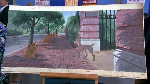 "Antiques Roadshow -- S17 Ep7: Appraisal: 1955 Walt Disney ""Lady and the Tramp"" Ba"