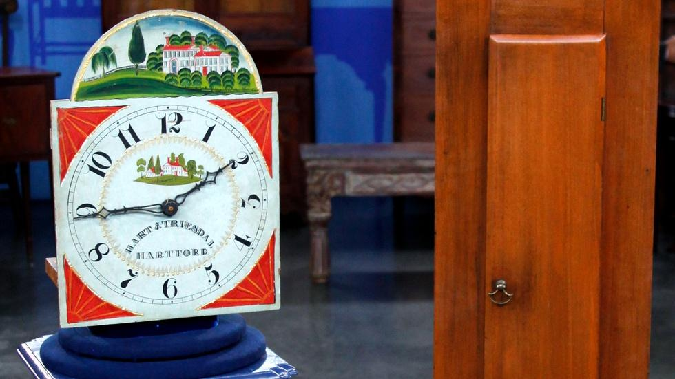 S17 Ep7: Appraisal: Hart & Truesdale Wooden Works Tall Clock image