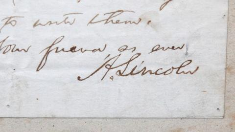 Antiques Roadshow -- S17 Ep8: Appraisal: 1860 Abraham Lincoln Signed Letter