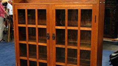 Appraisal: Gustav Stickley Bookcase, ca. 1915