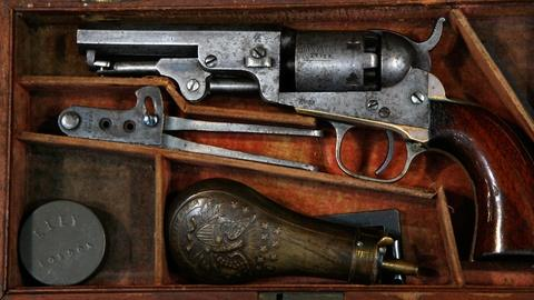 Antiques Roadshow -- S12 Ep10: Appraisal: Colt Model 1849 Pocket Revolver with Ac