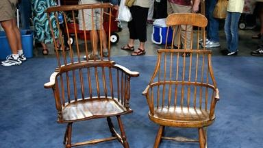 Appraisal: 18th C. Windsor Chair & 19th C. Windsor Rocker