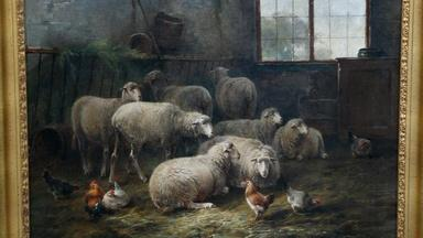 Appraisal: Cornelis van Leemputten Oil Painting, ca. 1885
