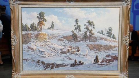 "Antiques Roadshow -- S17 Ep14: Appraisal: 1979 Clyde Aspevig ""Snow Ridge"" Oil"
