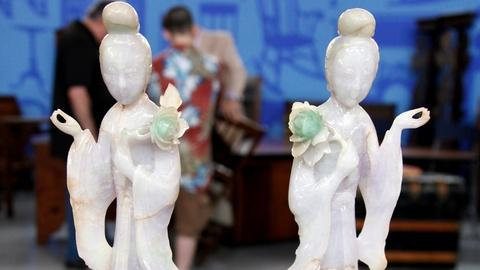 Antiques Roadshow -- S17 Ep16: Appraisal: Chinese Jadeite Maidens, ca. 1900