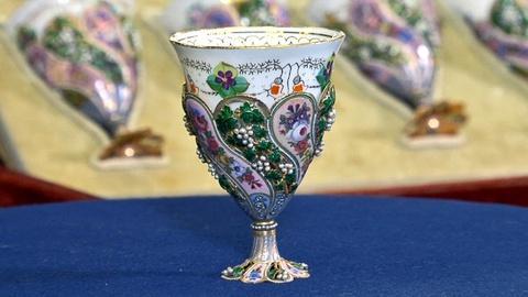 Antiques Roadshow -- Web Appraisal: Swiss Enamel & Pearl Coffee Cups
