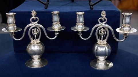 Antiques Roadshow -- S17 Ep18: Appraisal: Georg Jensen-Style Candelabra, ca. 1950