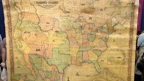 Antiques Roadshow -- S17 Ep24: Appraisal: 1853 Colton U.S. Wall Map
