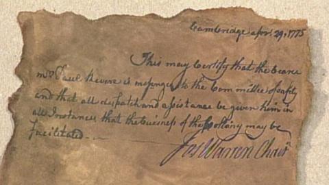 Antiques Roadshow -- S17 Ep25: Appraisal: Reproduction Paul Revere Military Pass