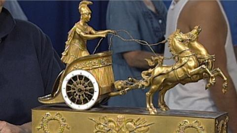 Antiques Roadshow -- S17 Ep25: Appraisal: Classical French Chariot Clock, ca. 181