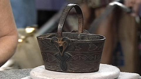 Antiques Roadshow -- S17 Ep27: Appraisal: Leather Key Basket, ca. 1850