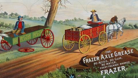 Antiques Roadshow -- S15 Ep11: Appraisal: Frazer Axle Grease Advertising Sign, ca