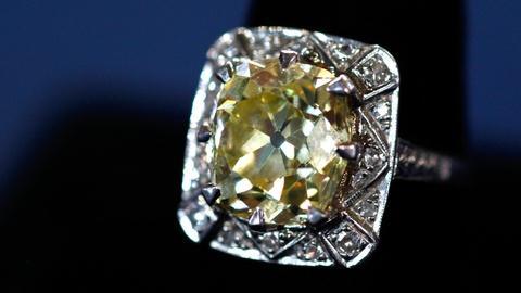 Antiques Roadshow -- S16 Ep8: Appraisal: 6.5 Ct. Yellow Mine Cut Diamond Ring, ca