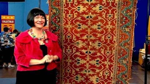 "Antiques Roadshow -- S16 Ep11: Interview with the ""Lotto"" Oushak Rug Owner"
