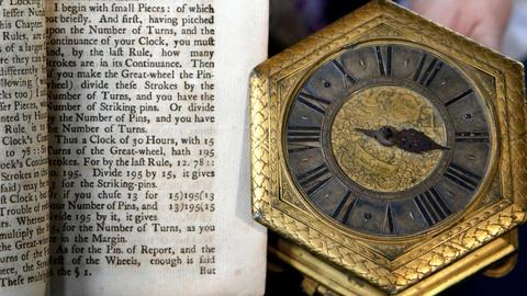Antiques Roadshow -- S16 Ep15: Appraisal: German Gilt Table Clock with Book, ca.