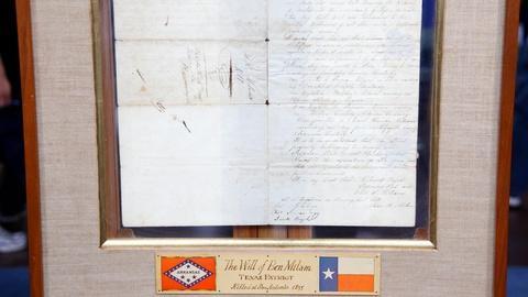 Antiques Roadshow -- S16 Ep12: Appraisal: 1834 Ben Rush Milam Signed Manuscript D