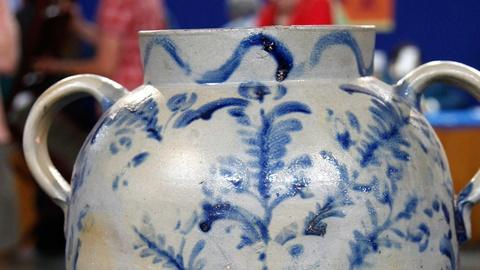 Antiques Roadshow -- S15 Ep14: Appraisal: Salt-Glazed Stoneware Water Cooler, ca.