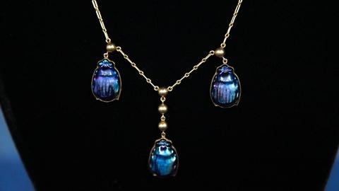Antiques Roadshow -- S16 Ep12: Appraisal: Tiffany Favrile Scarab Beetle Necklace,
