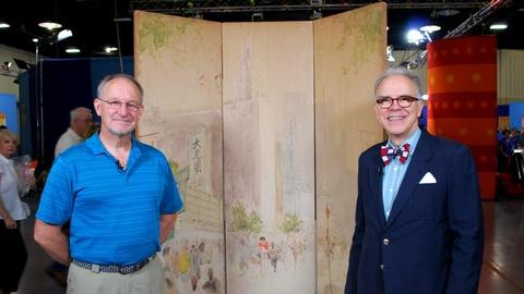 Antiques Roadshow -- S16 Ep1: Web Appraisal: Watercolor Screen by Chen Chi, ca. 1