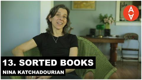 The Art Assignment -- Sorted Books - Nina Katchadourian