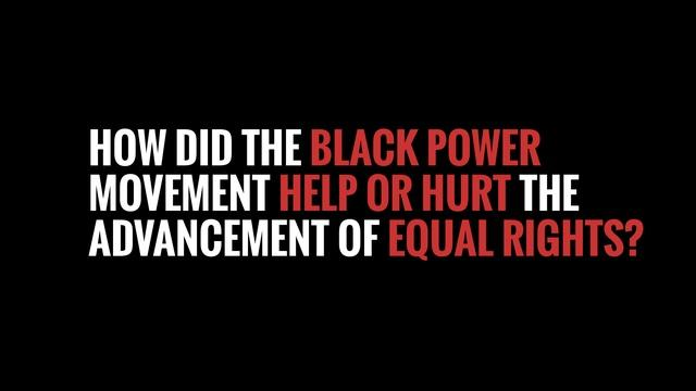 The Black Power Movement - Timeline Clip