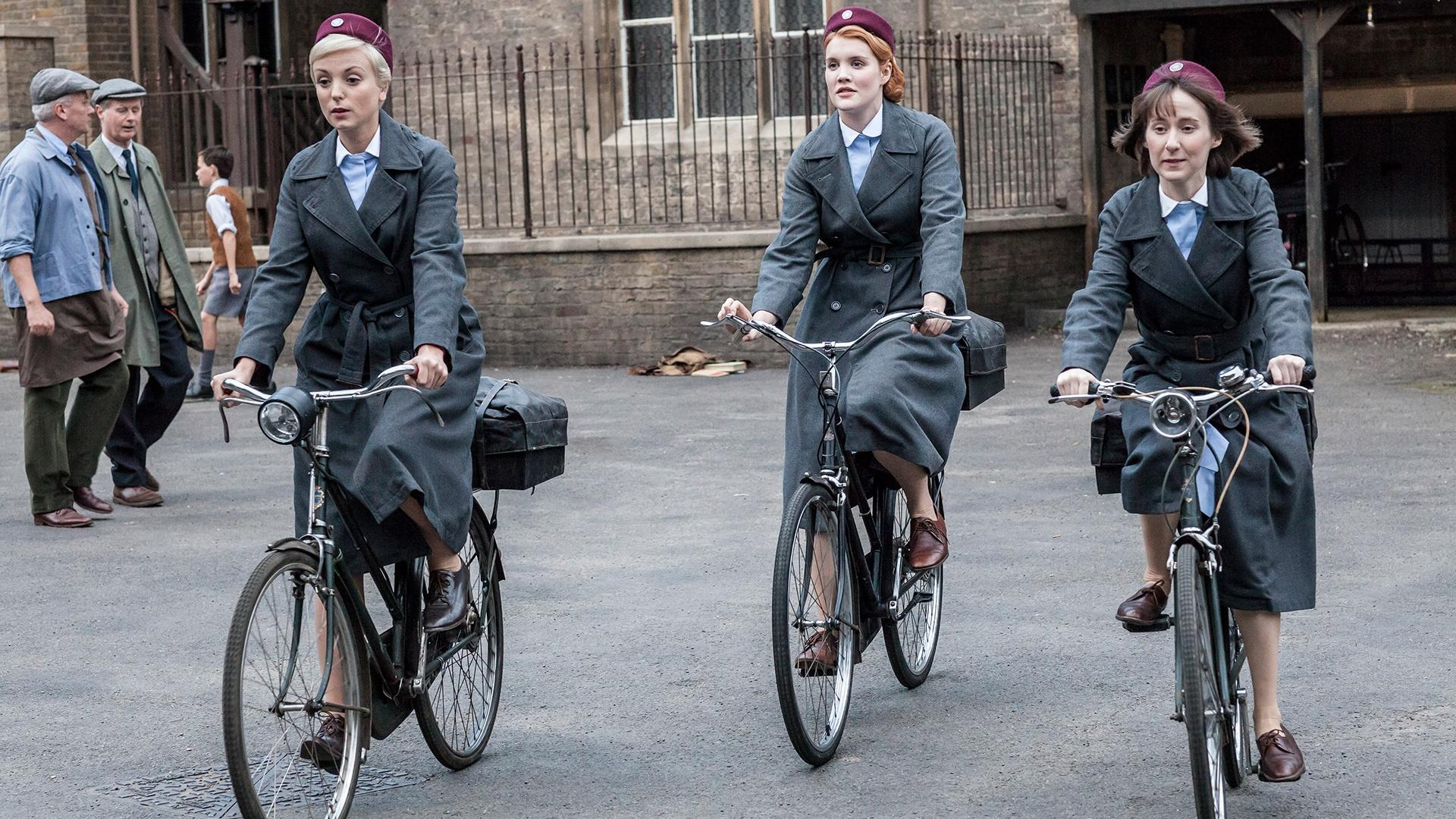 Image result for call the midwife cycling