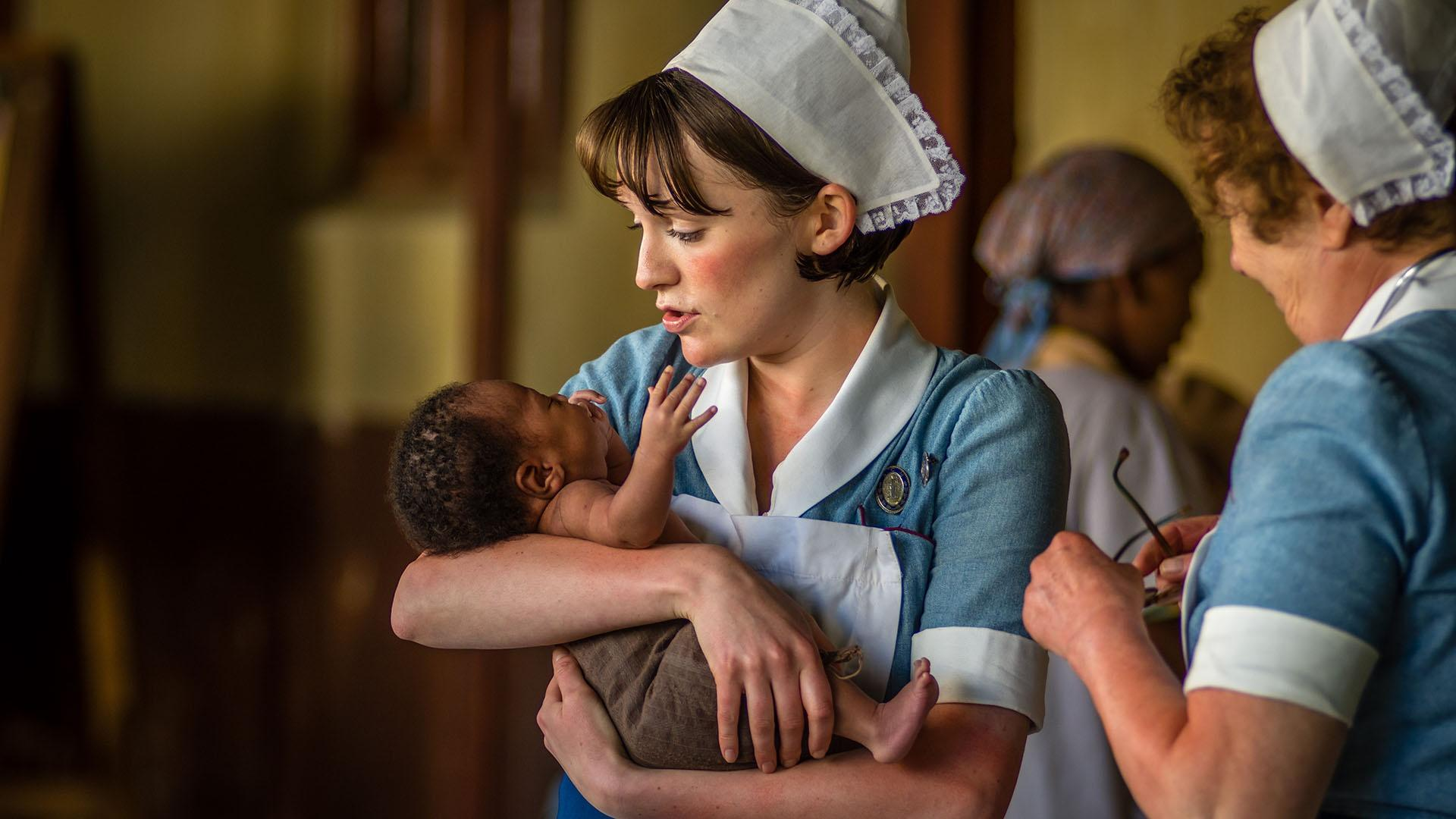 the lives of midwives in poor east side of london in call the midwife a medical drama series