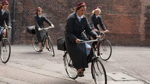 Call the Midwife -- S1: Behind the Scenes | Riding Bikes