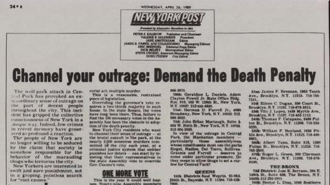 Central Park Five -- Death Penalty