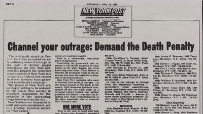 Central Park Five | Death Penalty