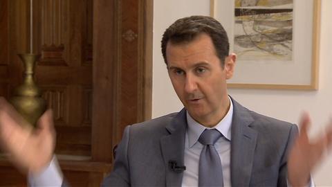 Charlie Rose The Week -- Syria's Bashar Al-Assad: War-Crimes Claims Are 'Propaganda'