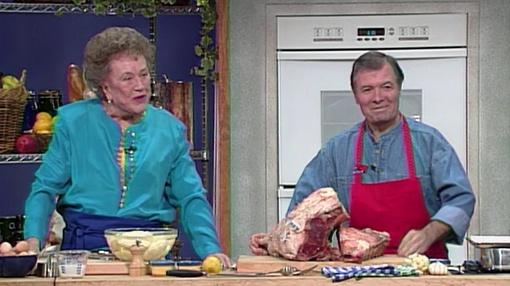 Cooking in Concert : Julia Child and Jacques Pepin Create A Classic Holiday Meal