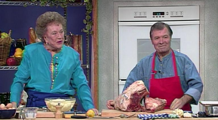 Cooking in Concert: Julia Child and Jacques Pepin Create A Classic Holiday Meal