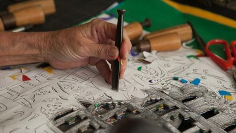 Craft in America -- Kathleen Trenchard creates a luminaria