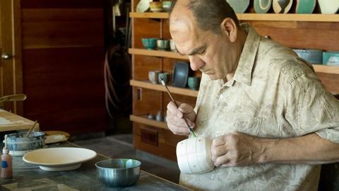 Craft in America -- S4 Ep2: Jeff Oestreich decorates bisque ware