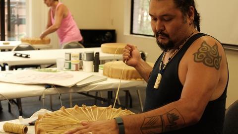 Craft in America -- S8: Nisga'a Artist Mike Dangeli sings a victory song