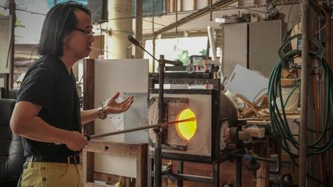 Craft in America -- S8: Recycling malasada oil for glass blowing at Punahou Scho