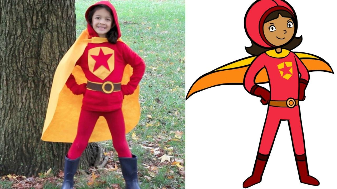 No-Sew WordGirl Costume