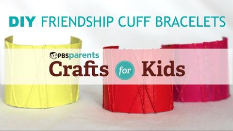 Crafts for Kids -- DIY Friendship Cuff Bracelets