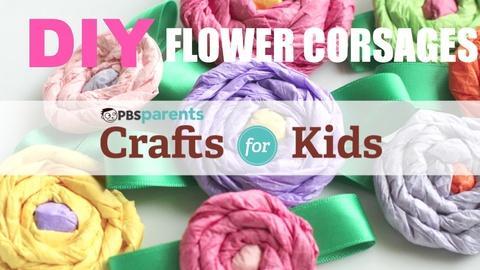 Crafts for Kids -- DIY Flower Corsages