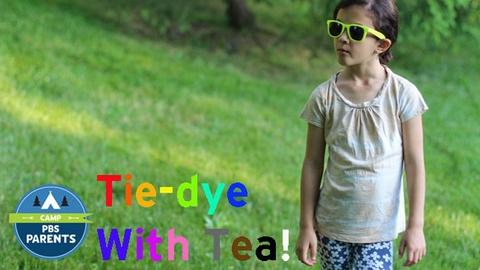 Crafts for Kids -- Tie-Dye with Tea