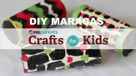 Crafts for Kids -- DIY Cardboard Maracas
