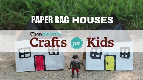 Crafts for Kids -- Paper Bag Houses