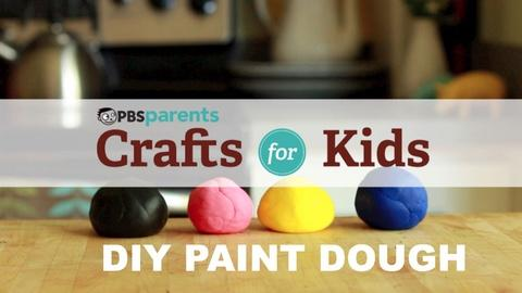 Crafts for Kids -- Two-Ingredient Play Dough